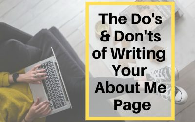 How to Write the Best About Me Page Possible